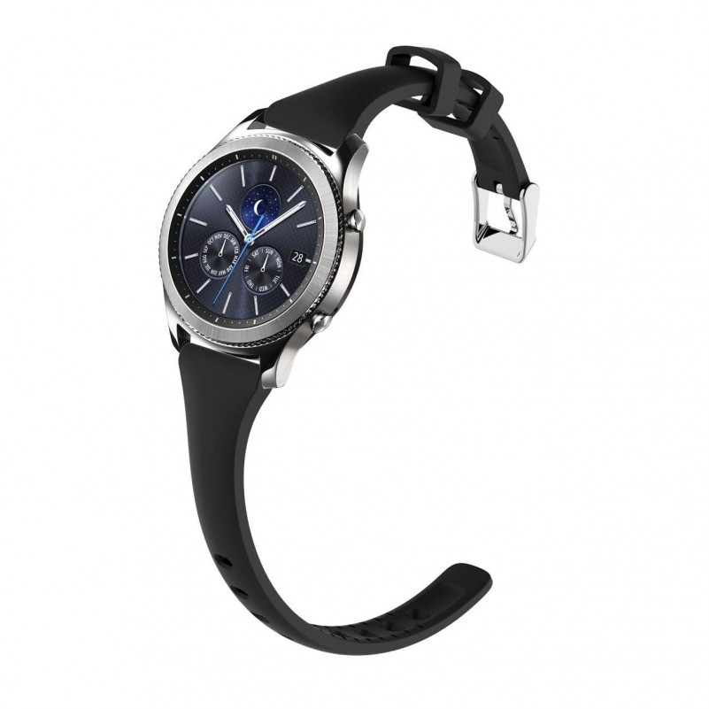 Best Buy Watch Band for Samsung Gear s3 Frontier/s3 Classic Smart Watch  (black) online with free shipping from HALLEAST online shop.