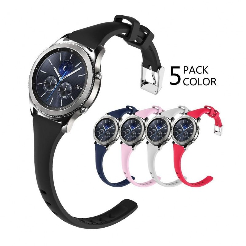 Best Buy Samsung Gear S3 Watch Band Silicone For Women for Samsung Gear s3 Frontier/s3  (5pack) online with free shipping from HALLEAST online shop.