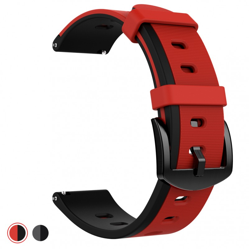 Best Buy Gear S3 Bands, Silicone Sport Wristbands Watch Strap Quick Release Replacement Bracelet with Metal Clasp for Samsung Gear S3 Frontier & S3 Classic Smart Watch online with free shipping from HALLEAST online shop.