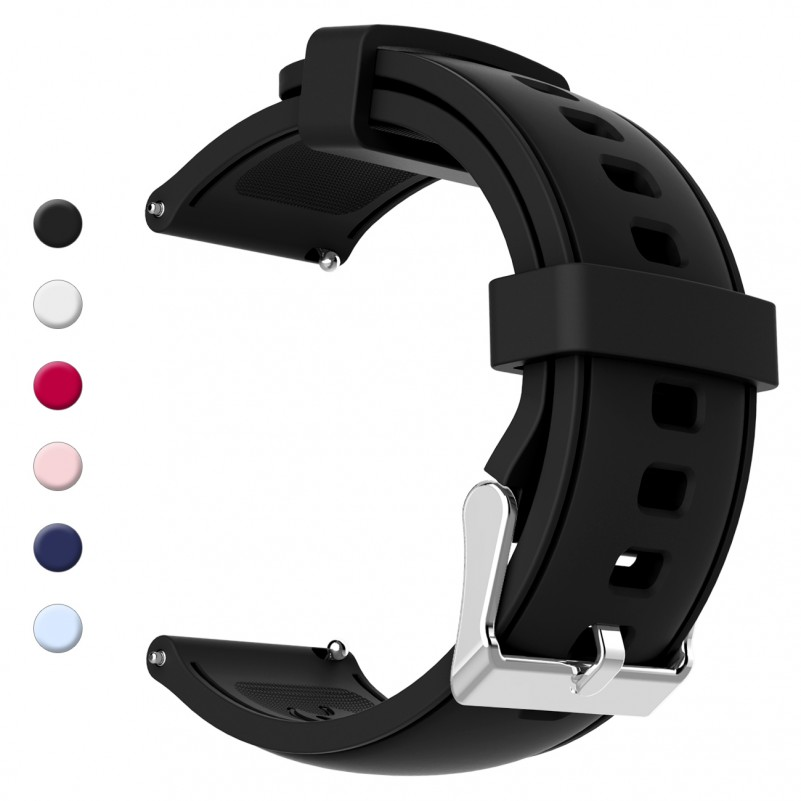Best Buy Gear S3 Bands, 22mm Silicone Sport Wristbands Watch Strap Quick Release Replacement Bracelet with Metal Clasp for Samsung Gear S3 Frontier & S3 Classic online with free shipping from HALLEAST online shop.