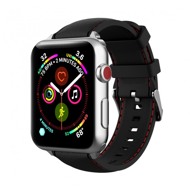 Best Buy apple watch bands Wristband for apple Watch Series 4 3 2 1 (Black 38mm 40mm) watch adapter included online with free shipping from HALLEAST online shop.